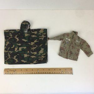 Vtg 90s GI Joe Duke Camo Poncho Duke US Army Coat